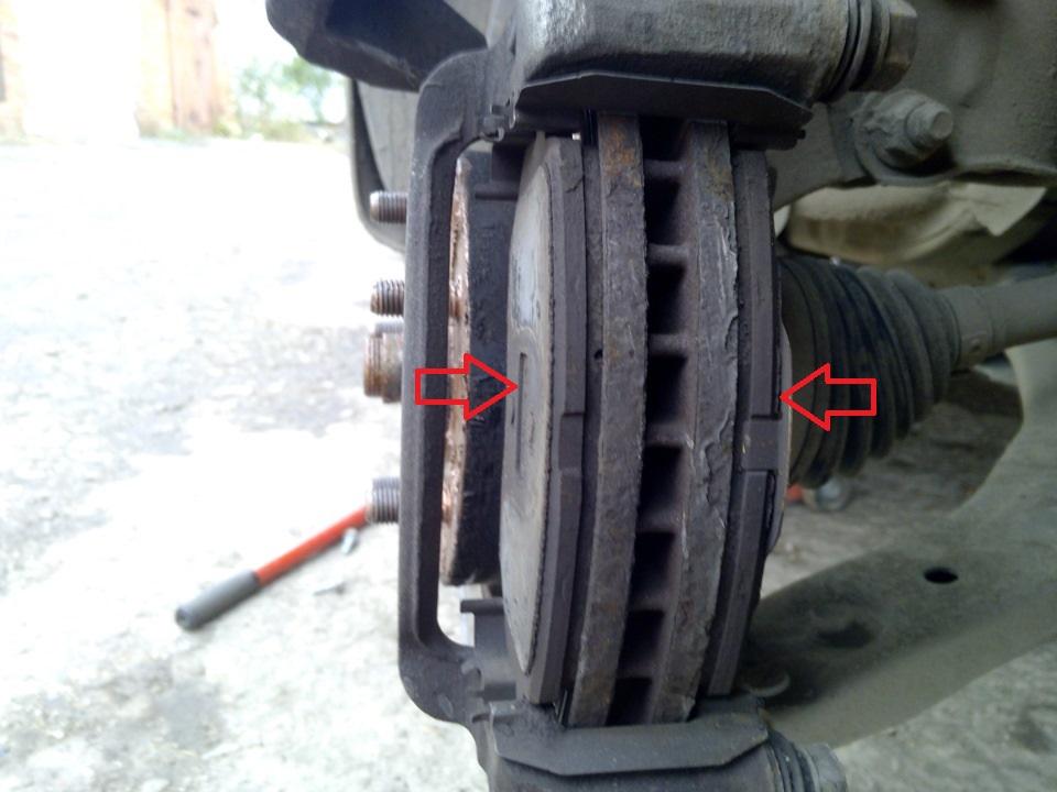 Замена тормозных колодок тормозных механизмов передних колес Hyundai ix35