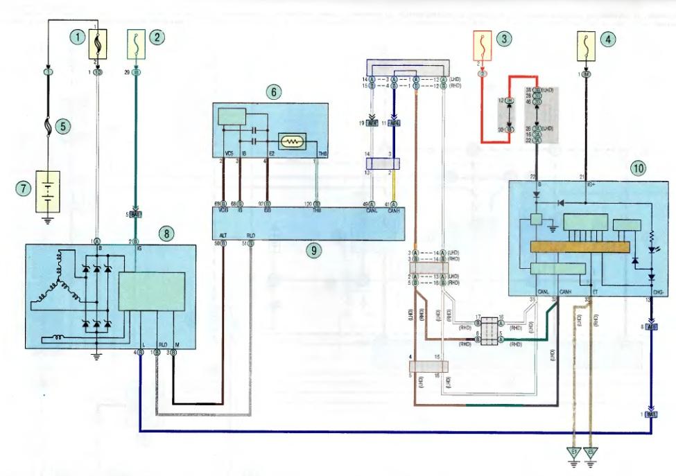 Тойота королла схема подключения бензонасоса на бензонасос