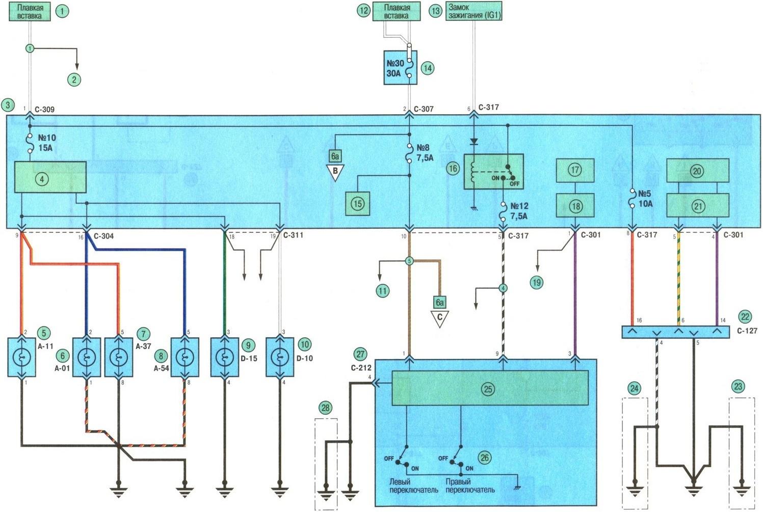 Схема автомобиля митсубиси аутлендер