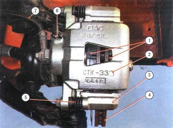 Тормозной механизм переднего колеса Chevrolet Lanos