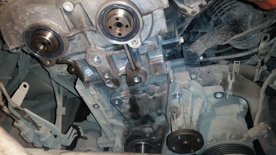 Замена цепи (или ремня) привода газораспределительного механизма Ford Focus