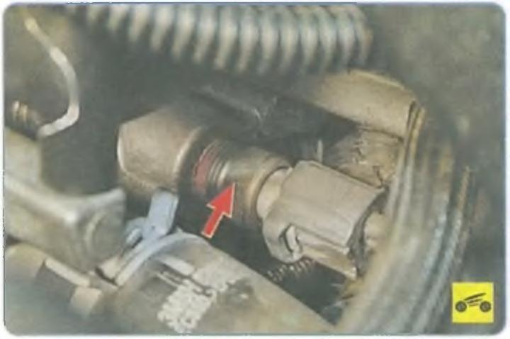 Где находится датчик температура на форд фокус