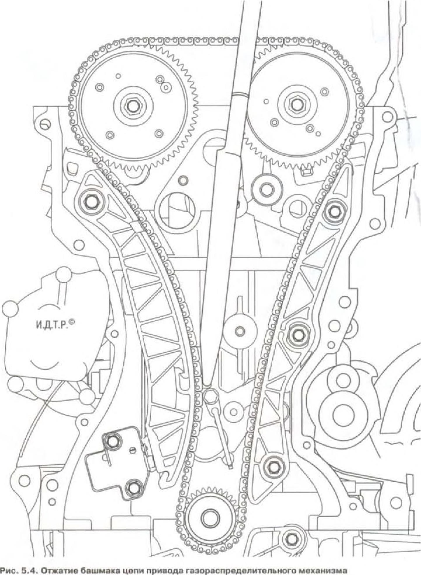 Схема замены ремня грм на мицубиси