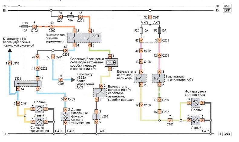 Схема электроцепи шевроле