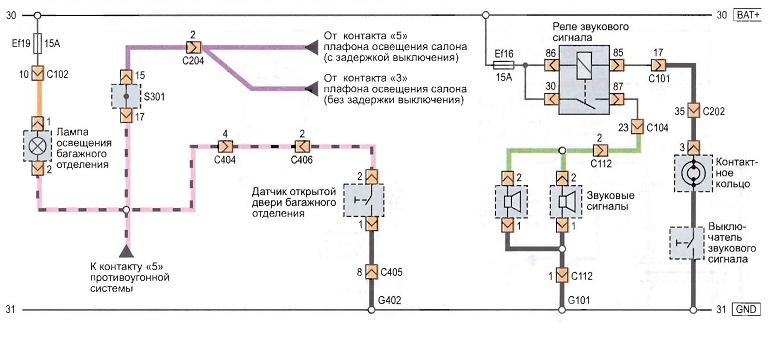 Как заменить звуковой сигнал на шевроле авео