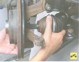 Замена левого наружного шруса логан