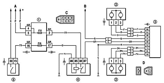 Схема реле стеклоподъемников нива шевроле