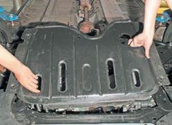 Снятие защиты силового агрегата Lada Largus