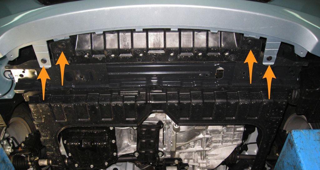 hyundai solaris крепление переднего бампера