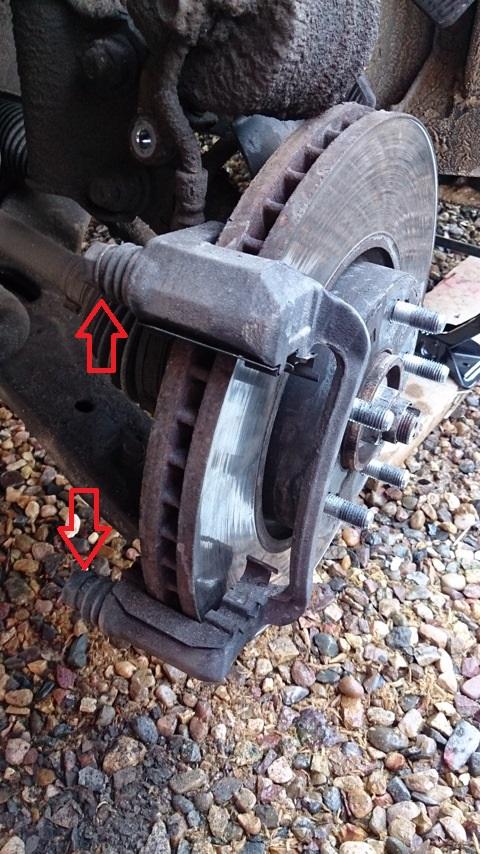 Замена задних тормозных колодок на ix35 своими руками 22