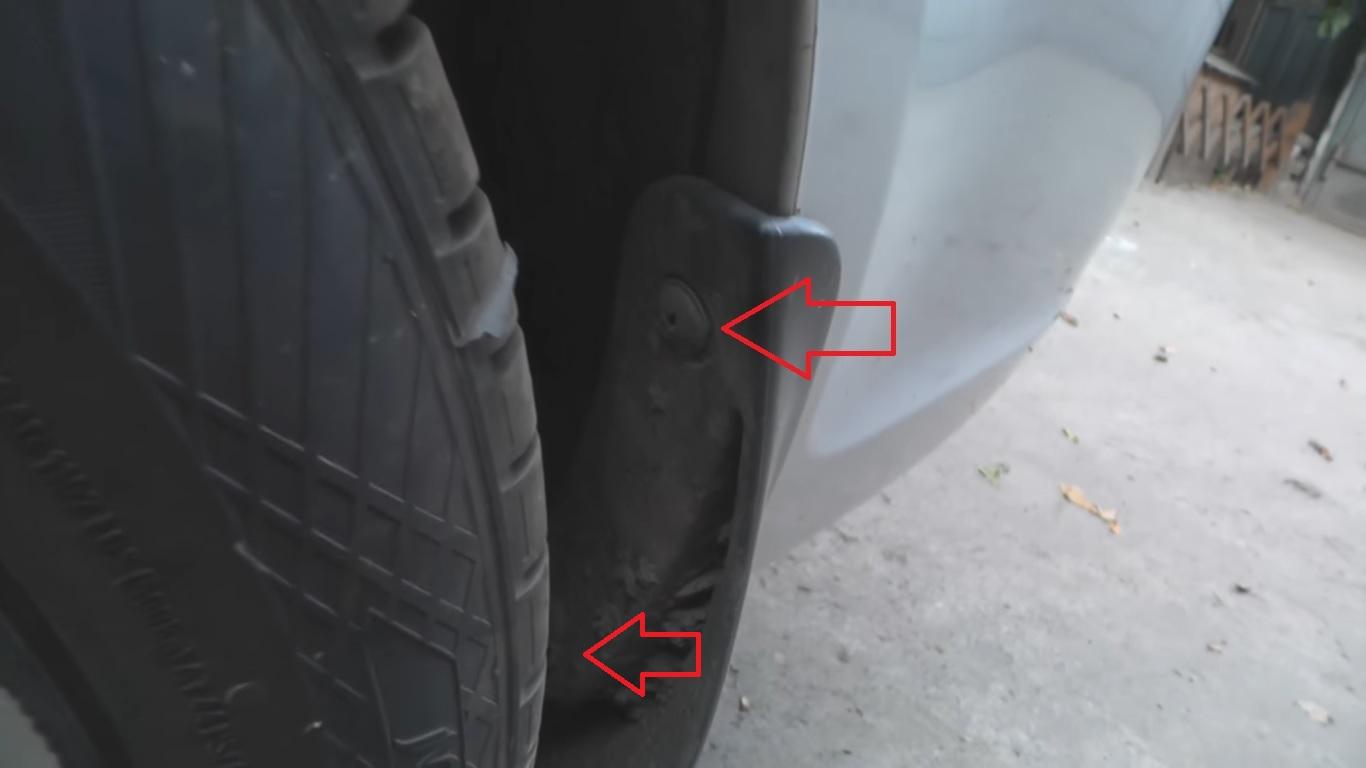 Снятие и установка заднего бампера Hyundai Accent MC
