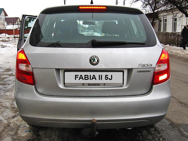 Проверка внешнего освещения Skoda Fabia II 2007