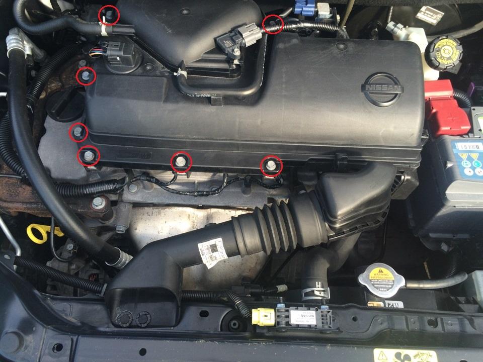 Снятие дроссельного узла двигателя СR14DE Nissan Note 2004 - 2012