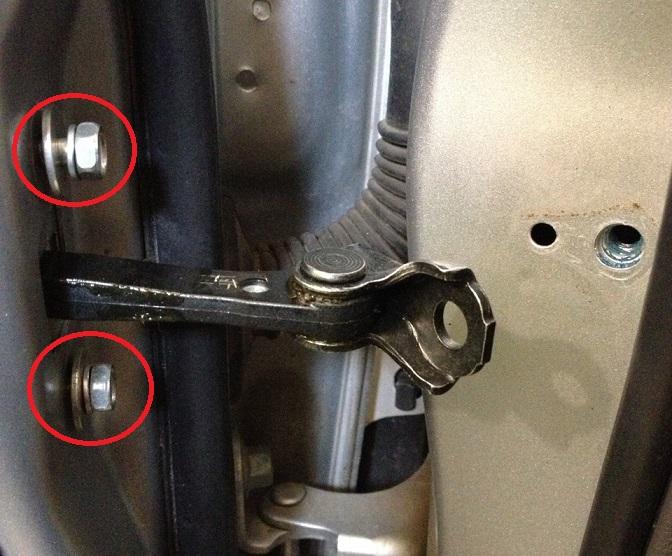 Замена ограничителя открывания передней двери Хонда Цивик 2005 - 2011