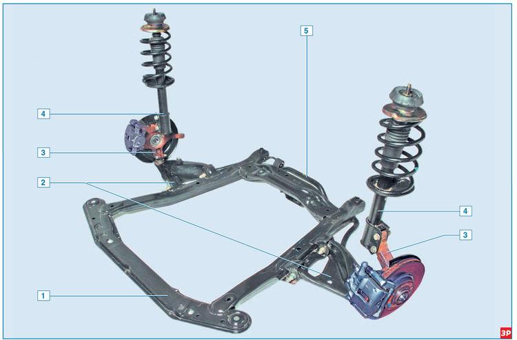 Описание конструкции передней передней подвески Lada Largus