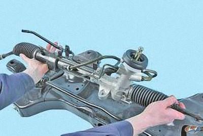 Ремонт рулевой рейки на хендай солярис своими руками 96