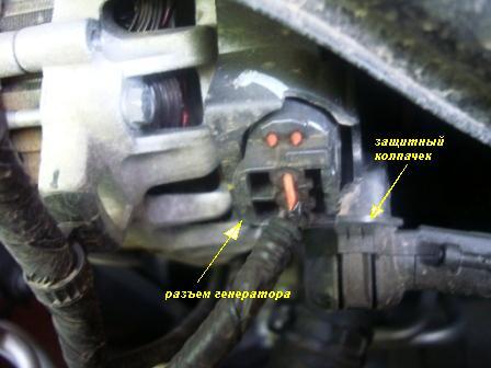 Защитный колпачок на генераторе Kia Rio III